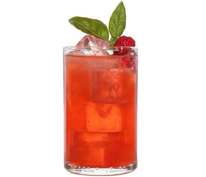 Raspberry Basil Collins Longdrink