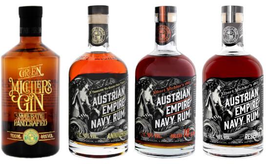 albert michler distillery spirituosen - markenseite sorten-übersicht