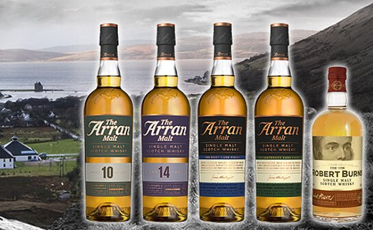 arran whisky - markenseite sorten-übersicht
