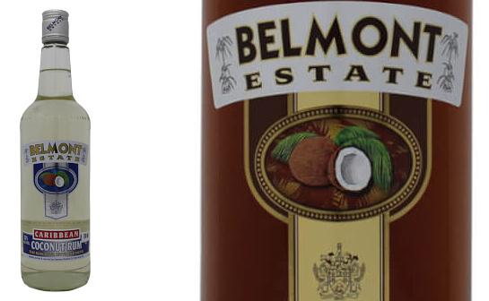 belmont estate coconut rum - markenseite sorten-übersicht