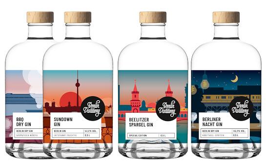 berlin distillery gin - markenseite sorten-übersicht