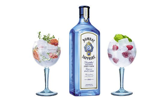 bombay sapphire gin - markenseite sorten-übersicht