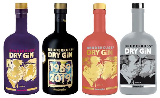 bruderkuss gin - markenseite sorten-übersicht