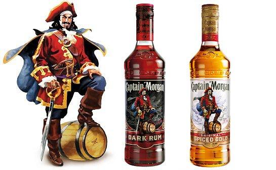 captain morgan rum - markenseite sorten-übersicht