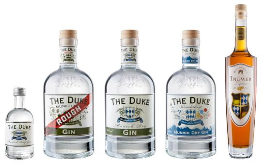 the duke destillerie - markenseite sorten-übersicht