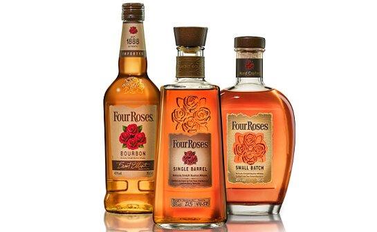 four roses whiskey range - markenseite sorten-übersicht