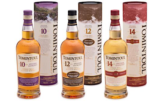 tomintoul whisky - markenseite sorten-übersicht