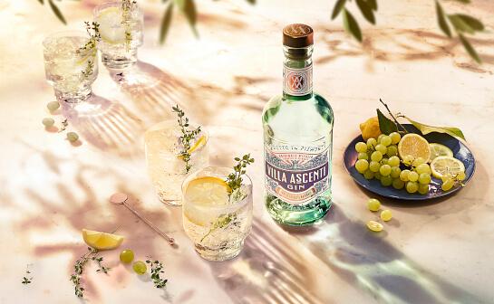 villa ascenti gin - markenseite sorten-übersicht