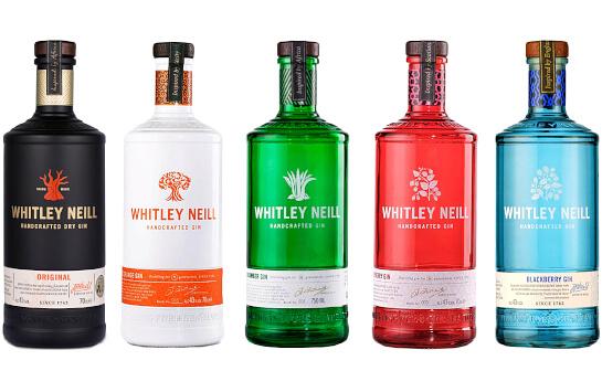 whitley neill gin - markenseite sorten-übersicht