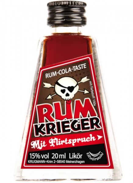 Krugmann Rumkrieger Miniatur Likör 0,02 L