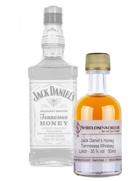 Jack Daniels Honey Whisky Tastingminiatur 0,05 L