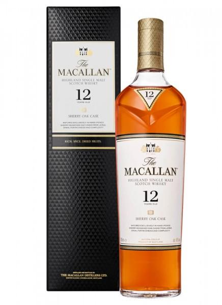 Macallan 12 Years Sherry Oak Single Malt Whisky 0,7 L