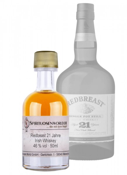 Redbreast 21 Jahre Irish Whiskey Tastingminiatur 0,05 L