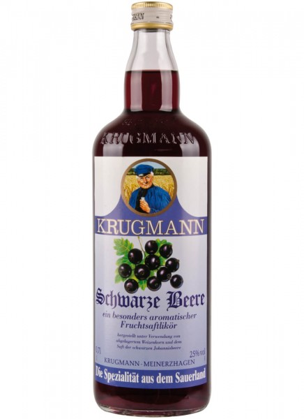 Krugmann Schwarze Beere Likör 0,7 L