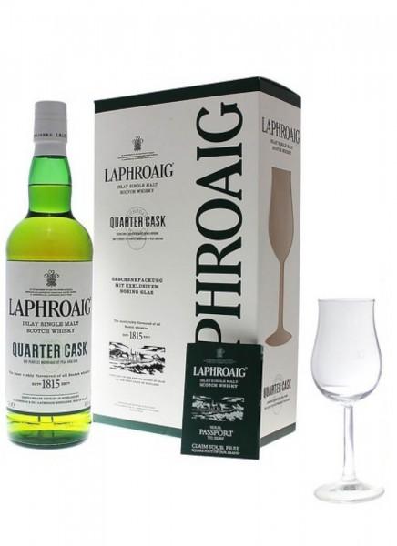 Laphroaig Quarter Cask Islay Whisky GP mit Glas 0,7 L