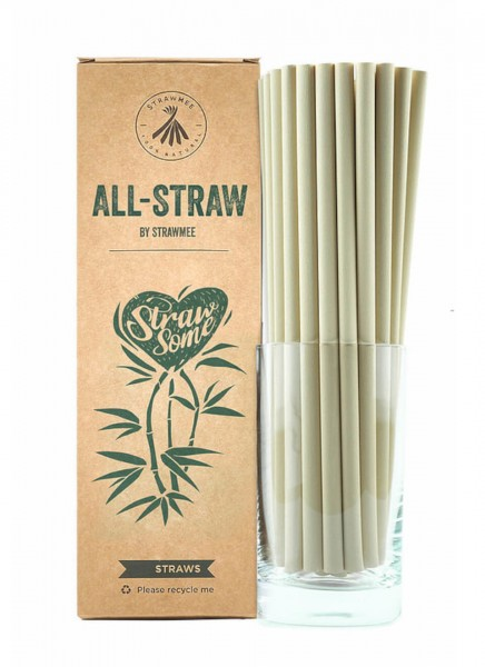 Trinkhalme All Straw aus Bambusfasern 21cm 100Stk