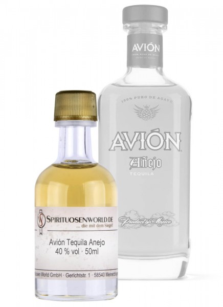 Avion Tequila Anejo Tastingminiatur 0,05 L