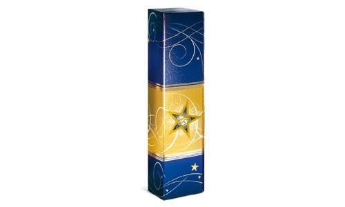 Geschenkkarton Sternenzauber Blau Metallic 1er
