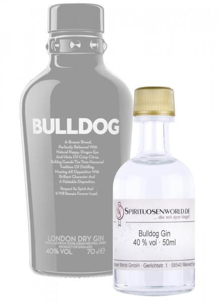 Bulldog London Dry Gin Tastingminiatur 0,05 L