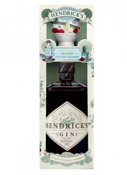 Hendrick's Gin Geschenkbox mit Porzellantasse 0,7 L