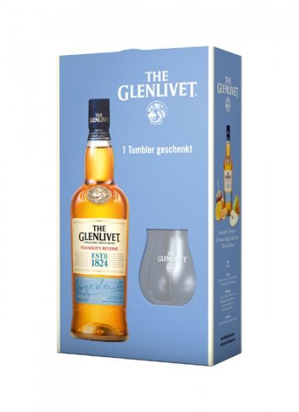 The Glenlivet Founders Reserve Whisky GP mit 1 Nosingglas gratis 0,7 L