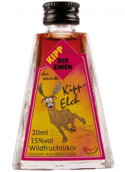 Krugmann Kipp Elch Miniatur Glas Likör 0,02 L