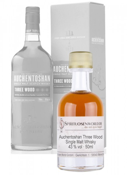 Auchentoshan Three Wood Whisky Tastingminiatur 0,05 L