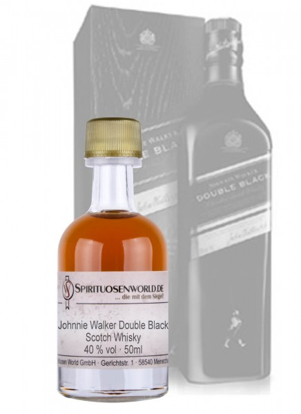 Johnnie Walker Double Black Whisky Tastingminiatur 0,05 L