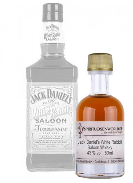 Jack Daniels White Rabbit Saloon Whisky Tastingminiatur 0,05 L