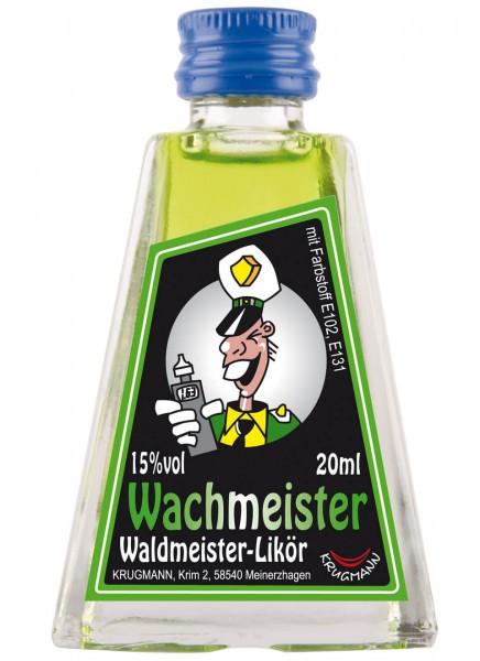 Krugmann Wachmeister Miniatur Glas Likör 0,02 L