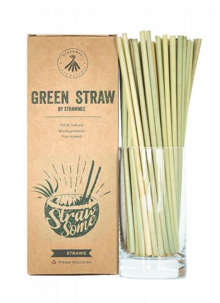 Trinkhalme Green Straw aus Pflanzenfasern ca 20cm 100Stk