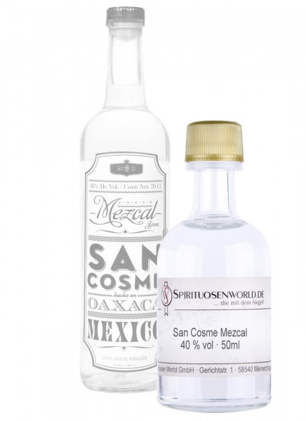 San Cosme Mezcal Tastingminiatur 0,05 L