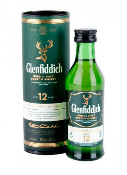 Glenfiddich 12 Years Single Malt Scotch Whisky Miniatur 0,05 L
