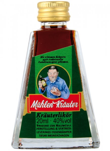 Mühlenkräuter Kräuterlikör Miniatur 0,02 L
