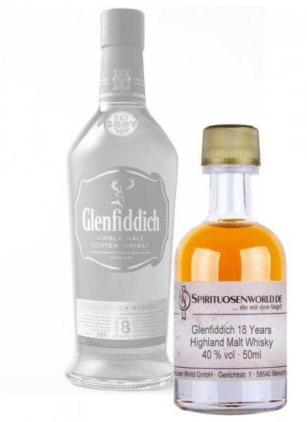 Glenfiddich 18 Jahre Whisky Tastingminiatur 0,05 L