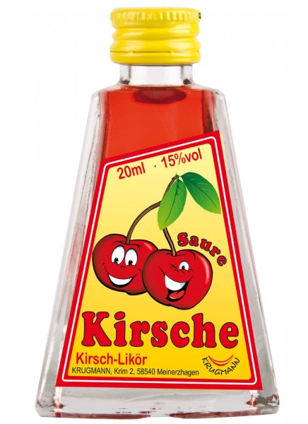 Krugmann Saure Kirsche Miniatur Likör 0,02 L