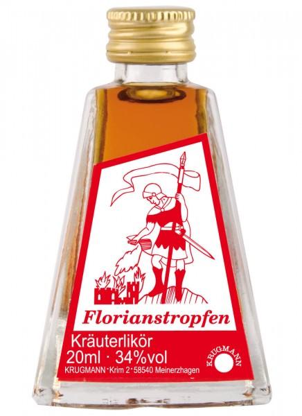 Krugmann Florianstropfen Kräuterlikör Miniatur 0,02 L
