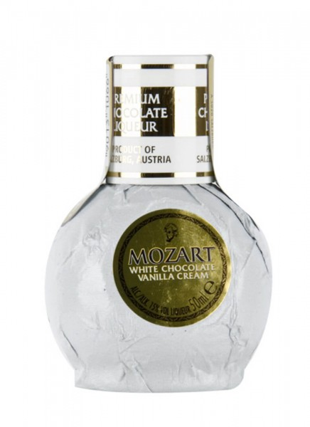 Mozart White Chocolate Vanilla Cream Likör Mini 0,05 L