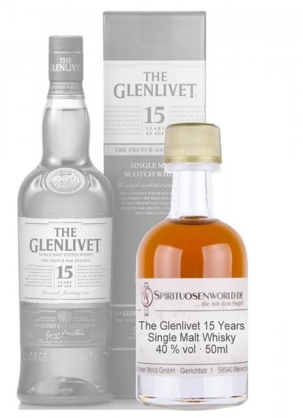 The Glenlivet 15 Jahre Whisky Tastingminiatur 0,05 L
