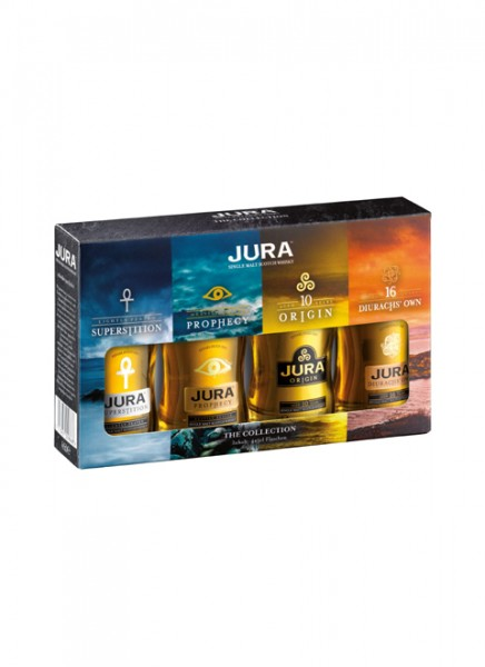 Jura The Collection 4x5cl Single Malt Whisky Miniatur-Set 0,2 L
