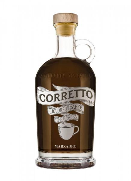 Marzadro Corretto Kaffeelikör mit Grappa 0,7 L