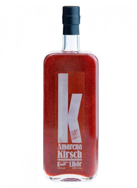 Amarena Kirsch Likör mit Glitzer 0,7 L