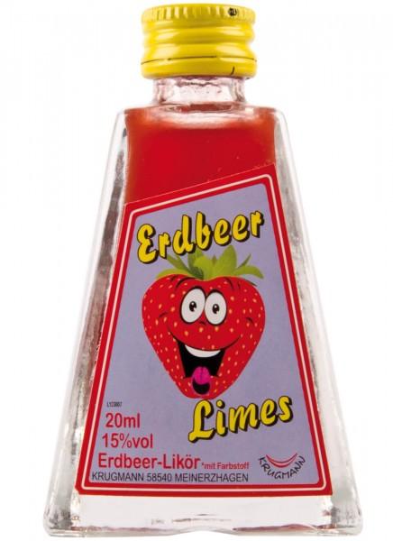 Krugmann Erdbeer Limes Miniatur 0,02 L