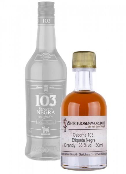 Osborne 103 Etiqueta Negra Brandy Tastingminiatur 0,05 L