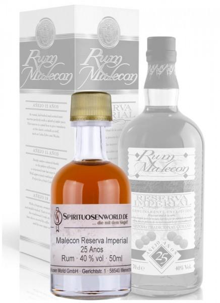 Malecon Reserva Imperial 25 Jahre Rum Tastingminiatur 0,05 L