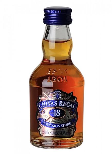 Chivas Regal 18 Years Scotch Whisky Miniatur 0,05 L