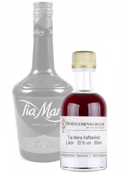 Tia Maria Kaffeelikör Tastingminiatur 0,05 L