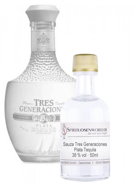 Sauza Tres Generaciones Plata Tequila Tastingminiatur 0,05 L