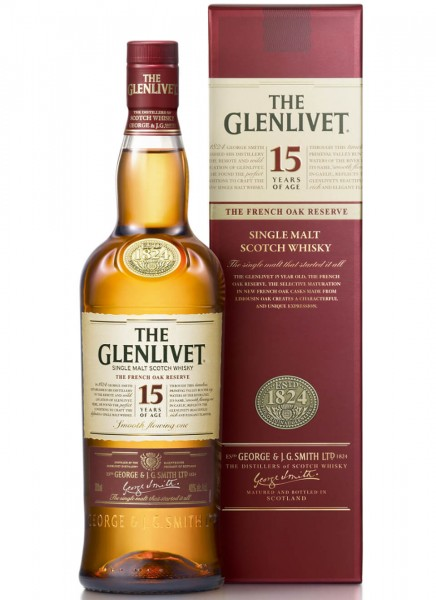 The Glenlivet 15 Years Single Malt Scotch Whisky 0,7 L