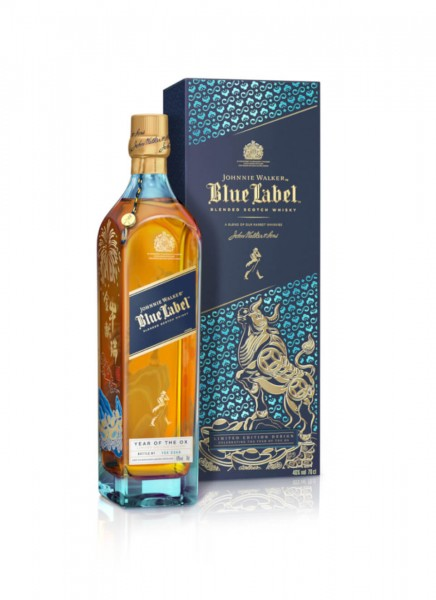 Johnnie Walker Blue Label Year of the Ox Chinese New Year Limited Edition Blended Scotch Whisky 0,7